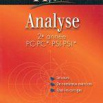 Analyse 2e année PC PSI