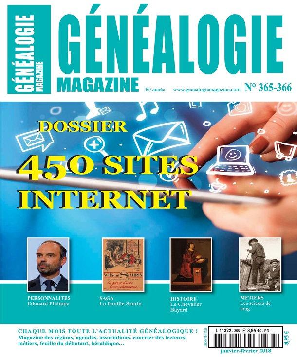 Généalogie Hors Série N°365-366 - Janvier-Février 2018