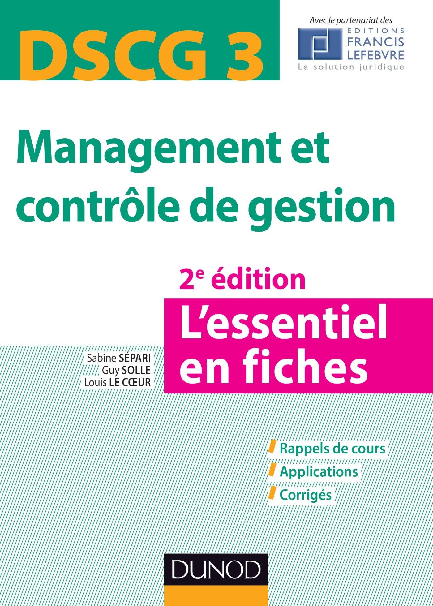 DSCG 3 – Management et contrôle de gestion : L'essentiel en fiches