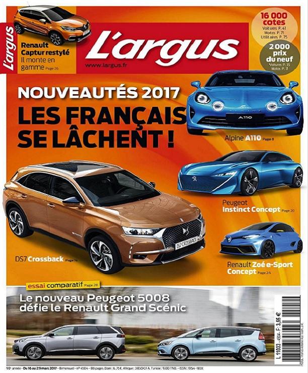 L'Argus N°4504 Du 16 au 29 Mars 2017