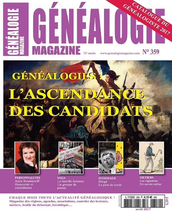 Généalogie N°359 – Avril 2017