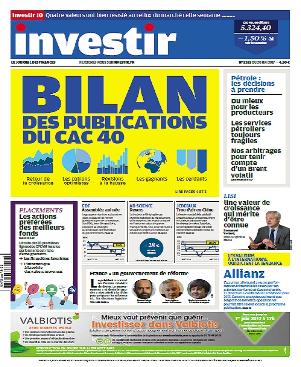 Investir N°2263 Du 20 Au 26 Mai 2017