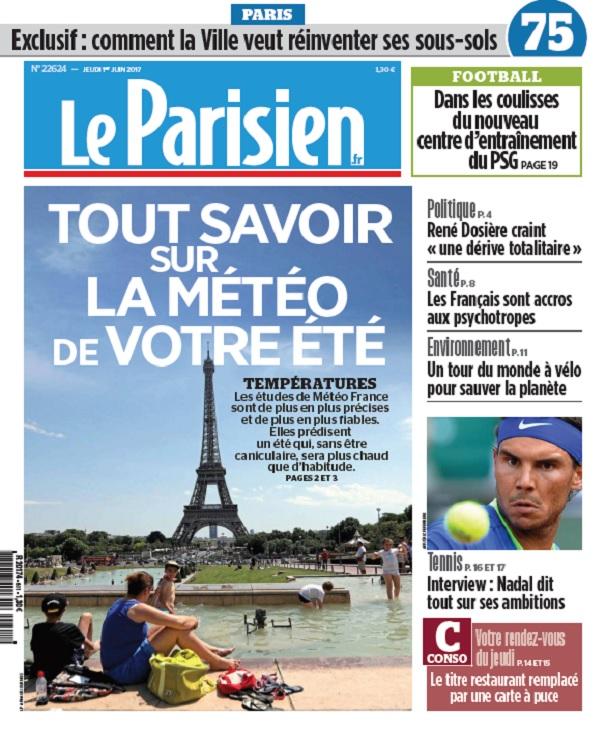 Le Parisien Du Jeudi 1 Juin 2017