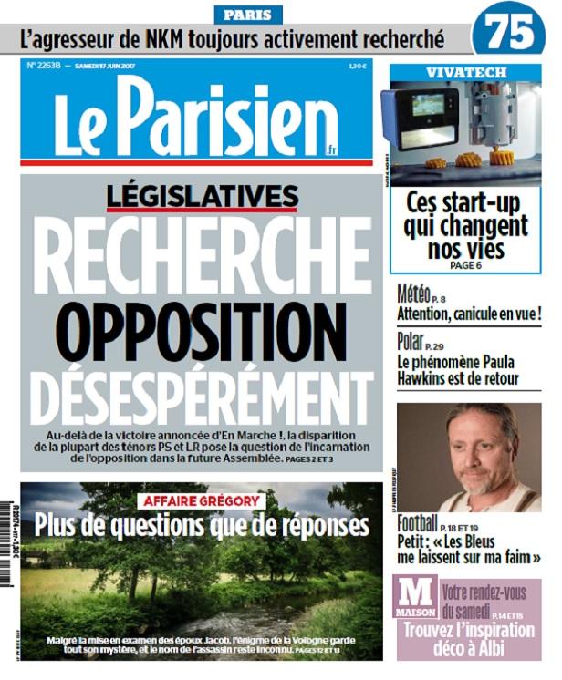 Le Parisien Du Samedi 17 Juin 2017