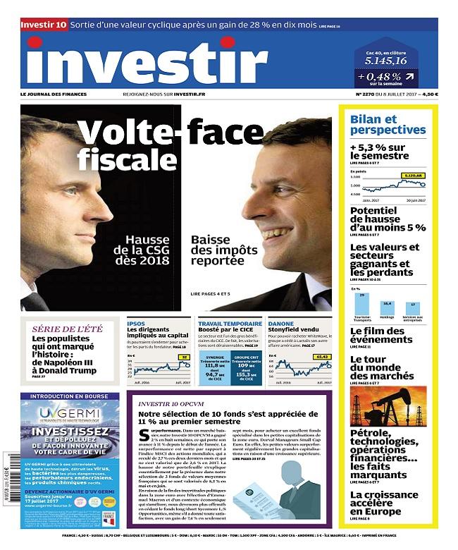 Investir N°2270 Du 8 Juillet 2017