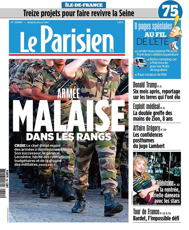 Le Parisien + Journal De Paris Du Jeudi 20 Juillet 2017