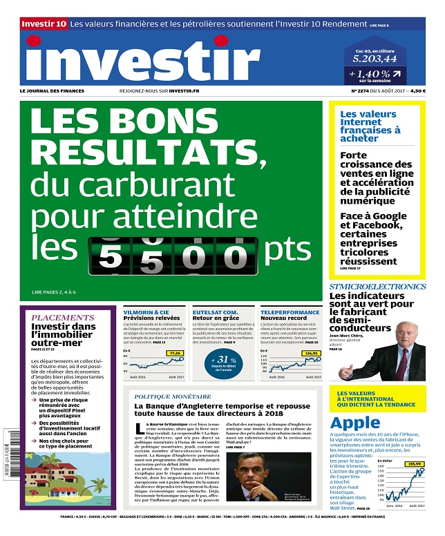 Investir N°2274 Du 5 Août 2017