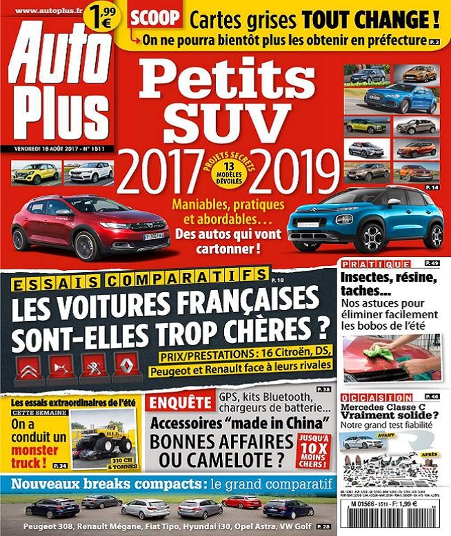 Auto Plus N°1511 Du 18 Août 2017