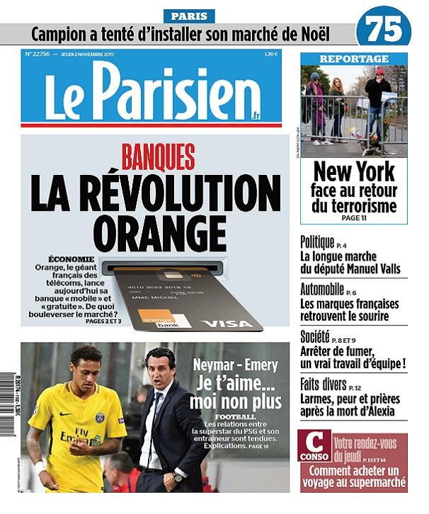 Le Parisien Du Jeudi 2 Novembre 2017