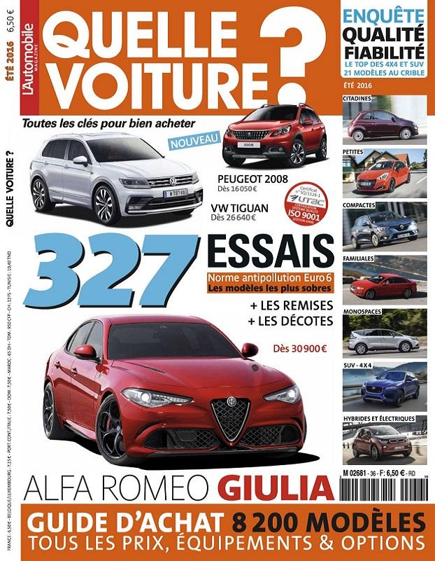 L'Automobile Hors Série Quelle Voiture N°36 – Été 2016