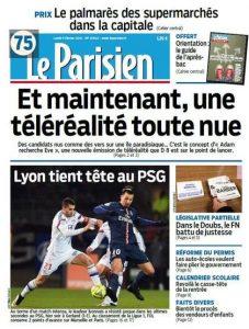Le Parisien Du Lundi 9 Février 2015