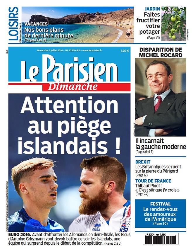 Le Parisien + Guide De Votre Dimanche Du 3 Juillet 2016