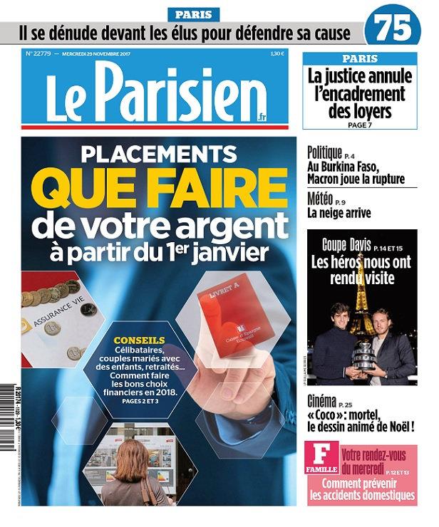 Le Parisien Du Mercredi 29 Novembre 2017