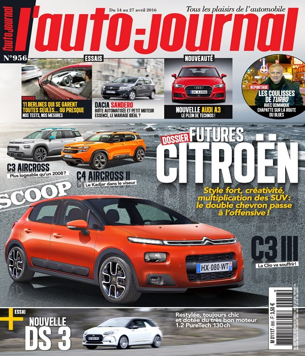 L'Auto Journal N°956 Du 14 au 27 Avril 2016