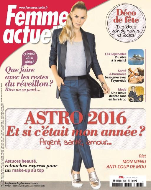 Femme Actuelle N°1631 Du 28 Décembre 2016 au 3 Janvier 2016