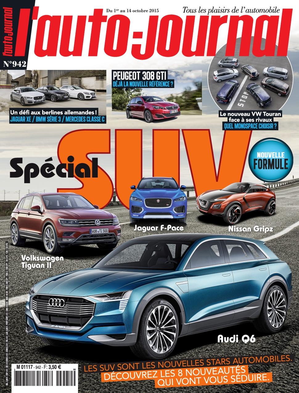 L'Auto Journal N°942 Du 1er au 14 Octobre 2015