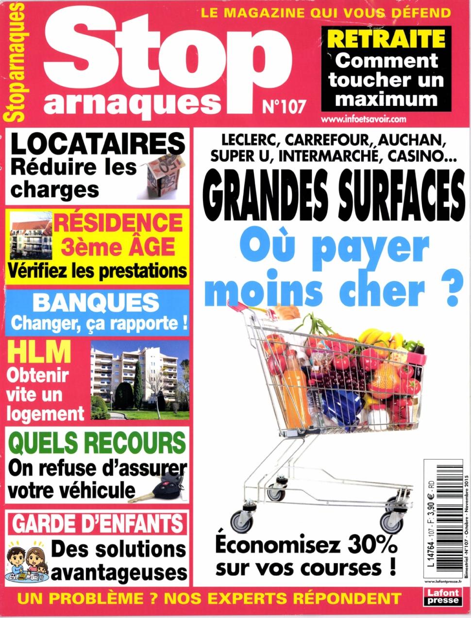 Stop Arnaques N°107 – Octobre-Novembre 2015