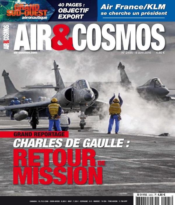 Air et Cosmos N°2495 Du8 au 14 Avril 2016