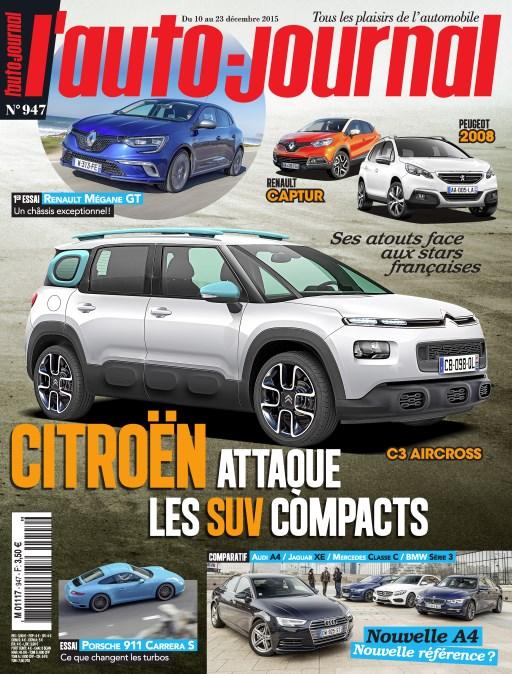 L'Auto Journal N°947 Du 9 au 23 Décembre 2015