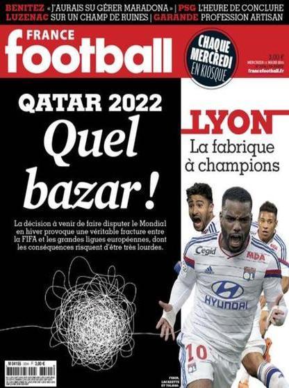 France Football N°3594 Du Mercredi 11 Mars 2015