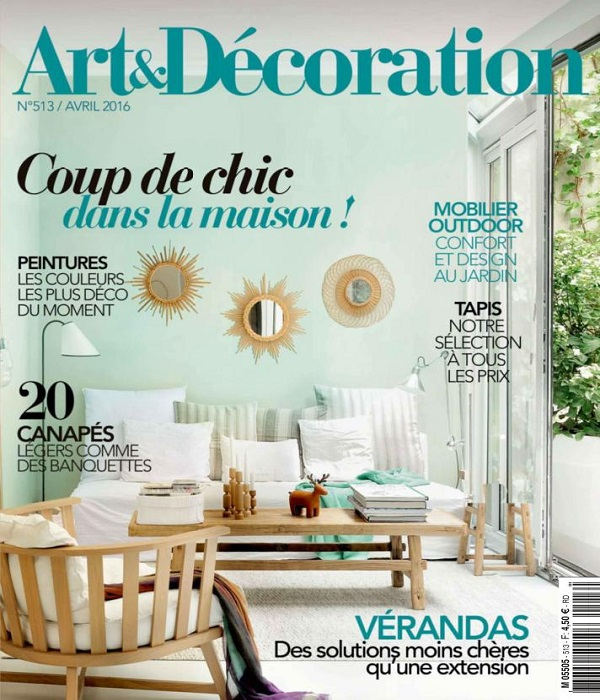 Art Et Décoration N513 Avril 2016 Telecharger Des Magazines