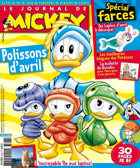 Le Journal De Mickey N°3328 Du 30 Mars au 5 Avril 2016