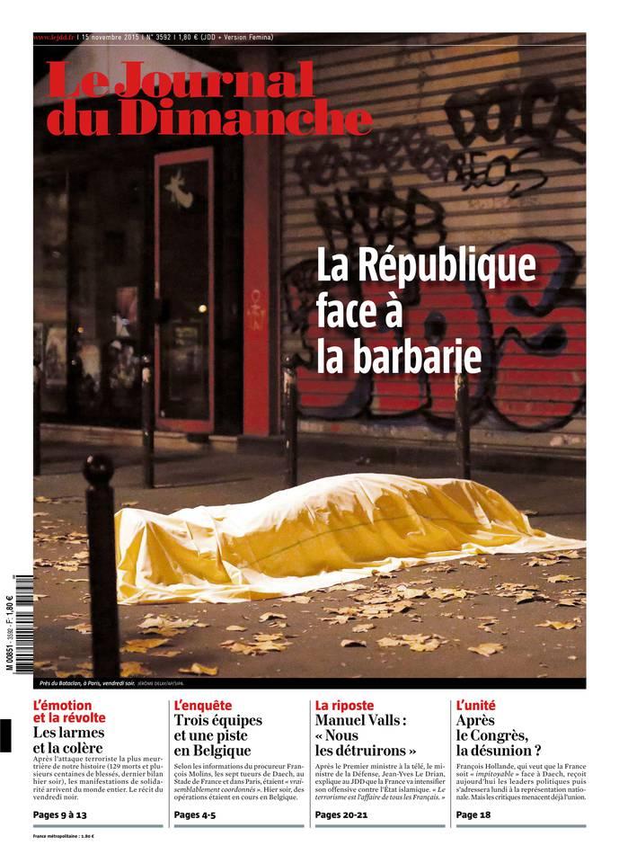 Le Journal Du Dimanche N°3592 Du 15 Novembre 2015