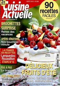 Cuisine Actuelle N°296 - Aout 2015