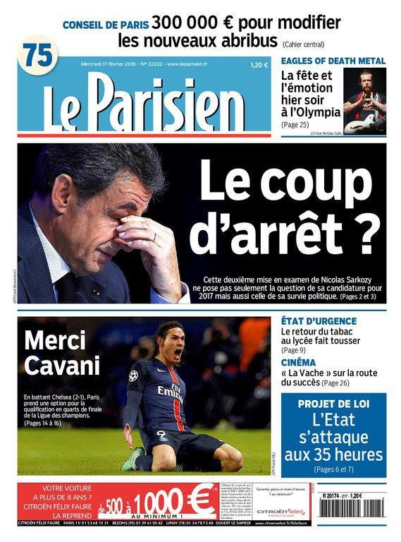 Le Parisien Du Mercredi 17 Février 2016