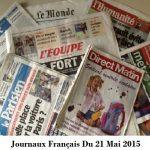 Journaux Français Du 21 Mai 2015