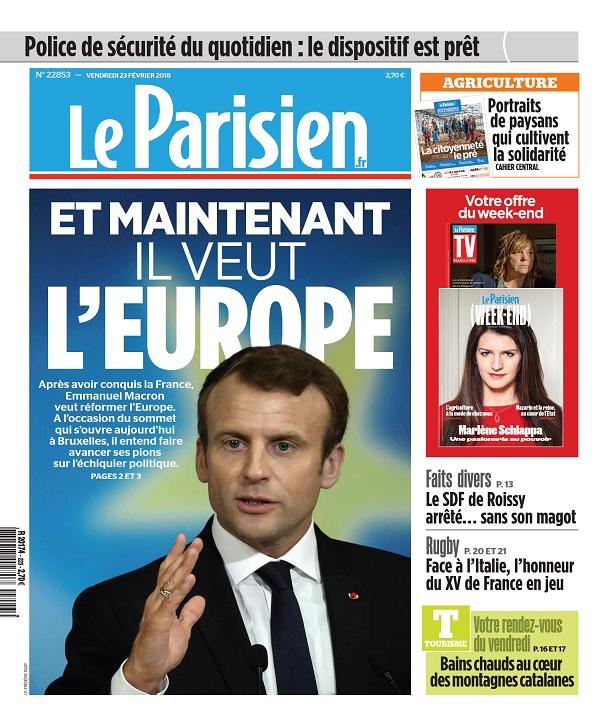 Le Parisien Du Vendredi 23 Février 2018