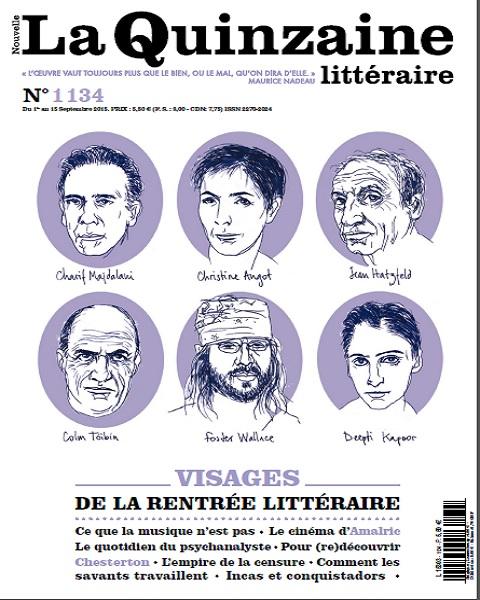 La Nouvelle Quinzaine Littéraire N°1134 Du 1er au 15 Septembre 2015