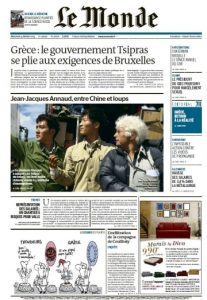 Le Monde Du Mercredi 25 Février 2015