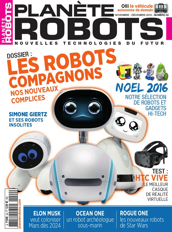 Planète Robots N°42 – Novembre-Décembre 2016