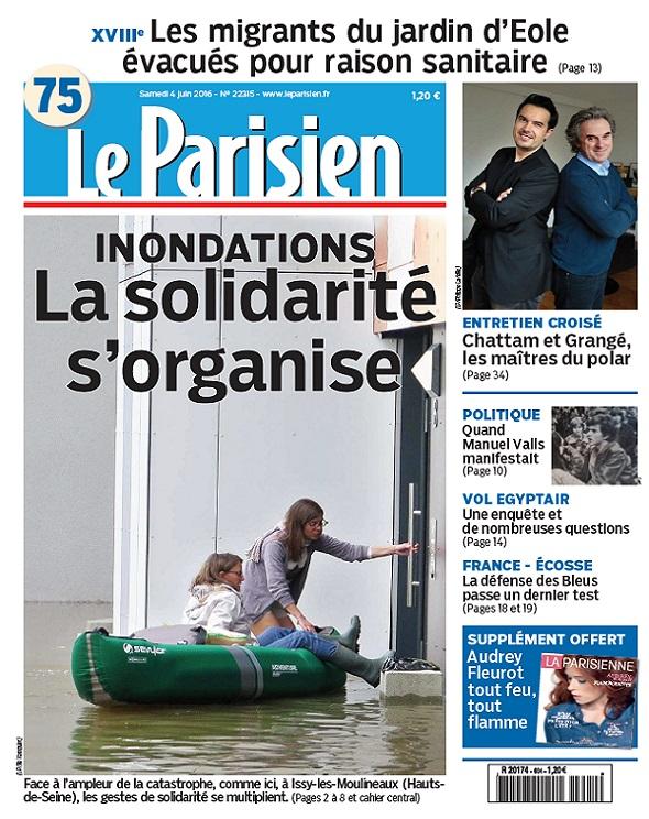Le Parisien + Journal De Paris Du Samedi 4 Juin 2016