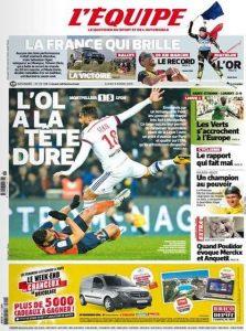L'Equipe Du Lundi 9 Mars 2015