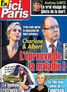 Ici Paris N°3639 Du 1er au 7 Avril 2015