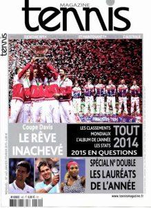 Tennis Magazine N°460 - Janvier-Février 2015