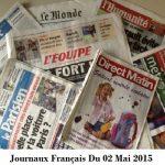 Journaux Français Du 02 Mai 2015