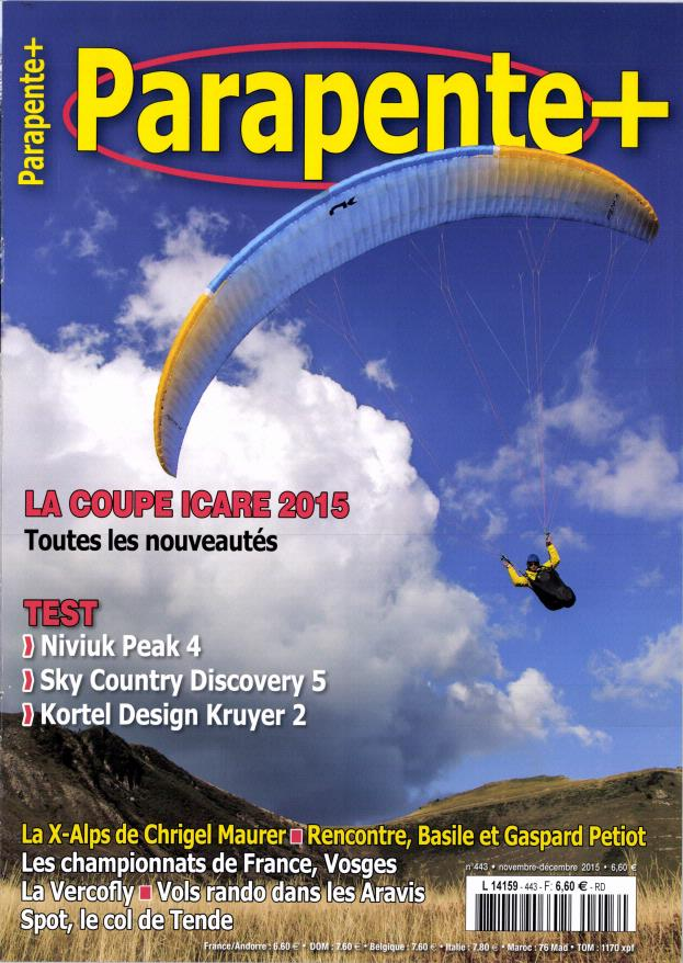 Parapente+ N°443 – Novembre-Décembre 2015