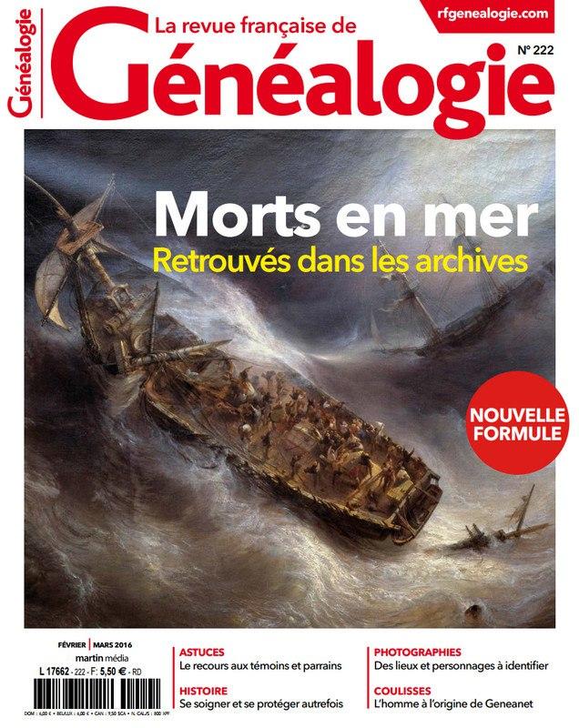 La Revue Française de Généalogie N°222 – Février-Mars 2016