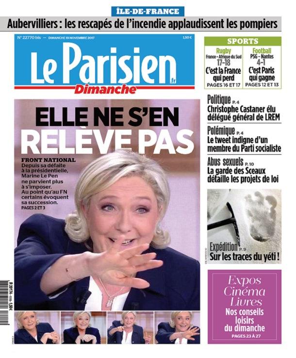 Le Parisien Du Dimanche 19 Novembre 2017