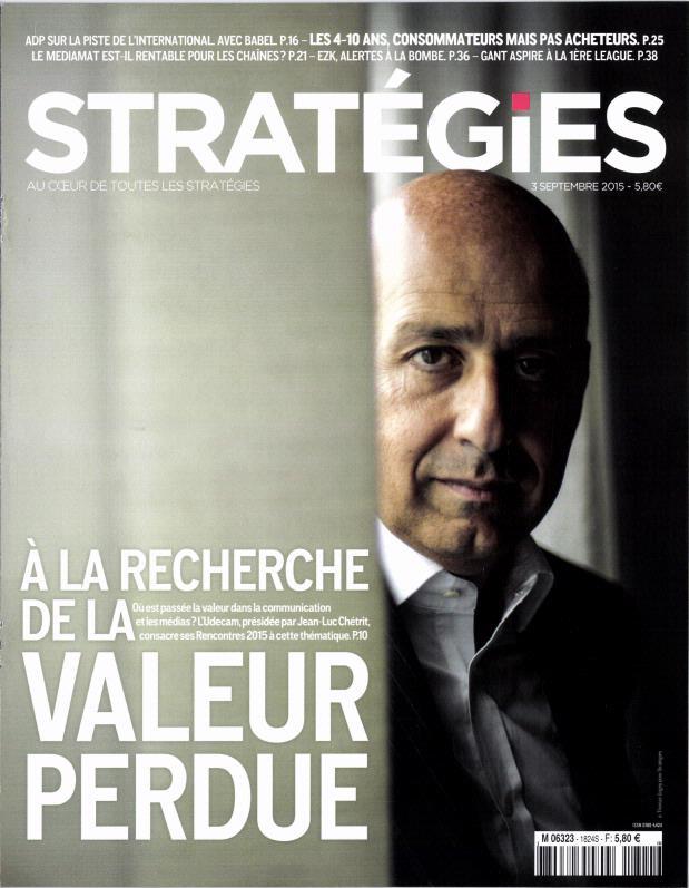 Stratégies N°1824 Du 3 Septembre 2015