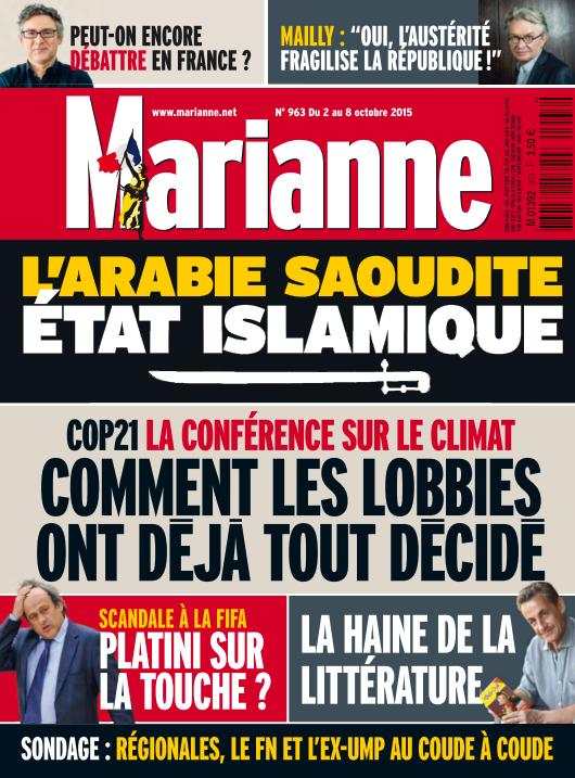 Marianne N°963 Du 2 au 8 Octobre 2015