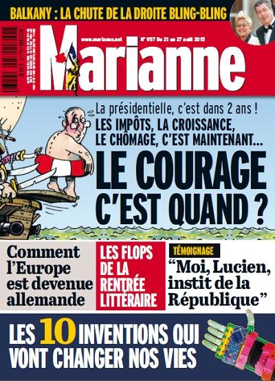 Marianne N°957 Du 21 au 27 Aout 2015