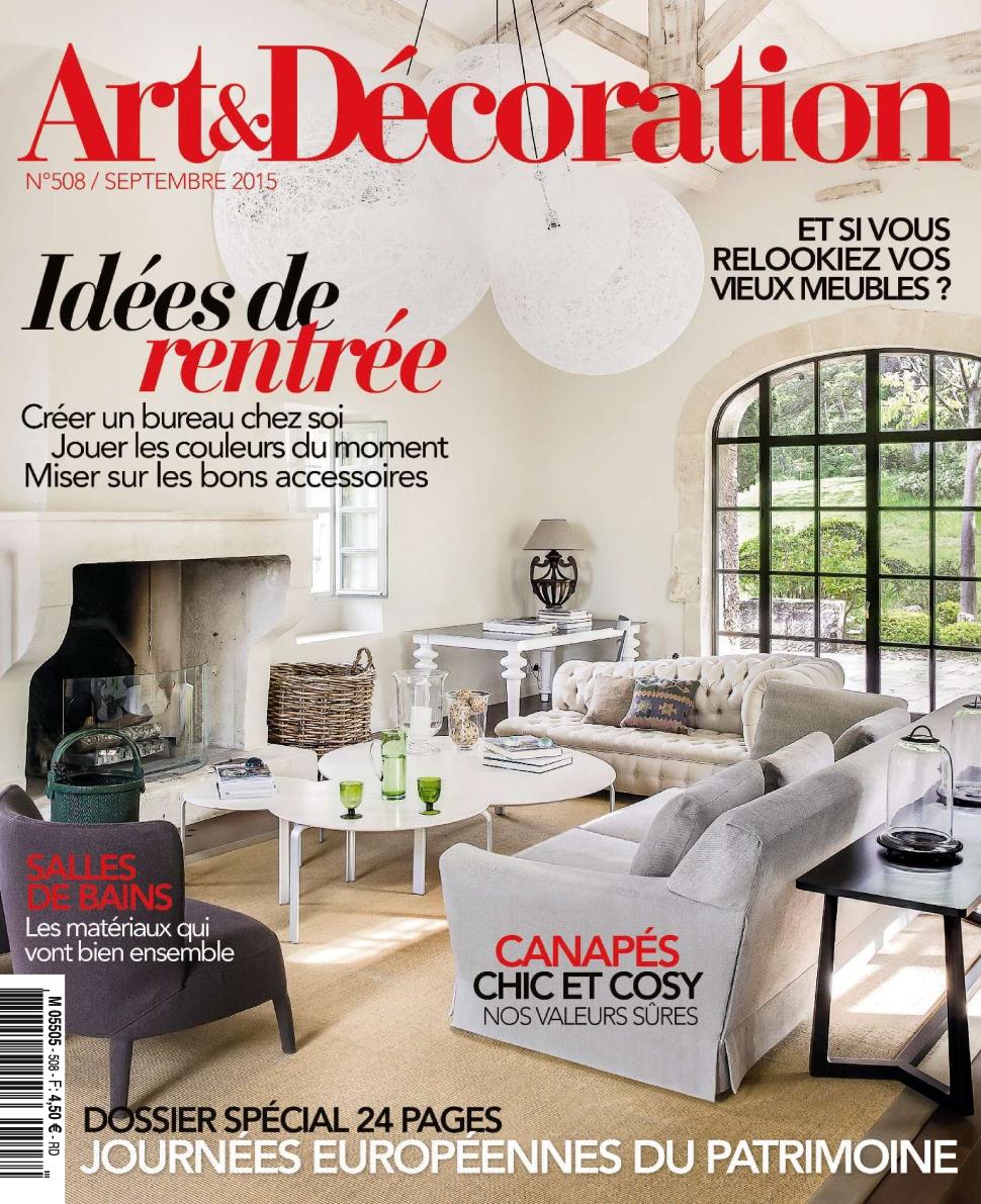 Magazine Art Et Décoration art et décoration n°508 - septembre 2015 - telecharger des