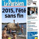 Le Parisien + Journal de Paris du Jeudi 20 Aout 2015