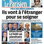 Le Parisien + Journal De Paris Du Mardi 5 Avril 2016