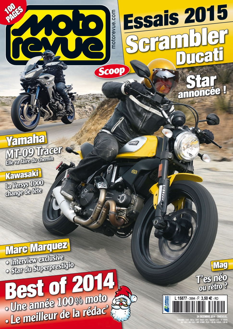 Moto Revue No.3994 – 24 Décembre au 7 Janvier 2015