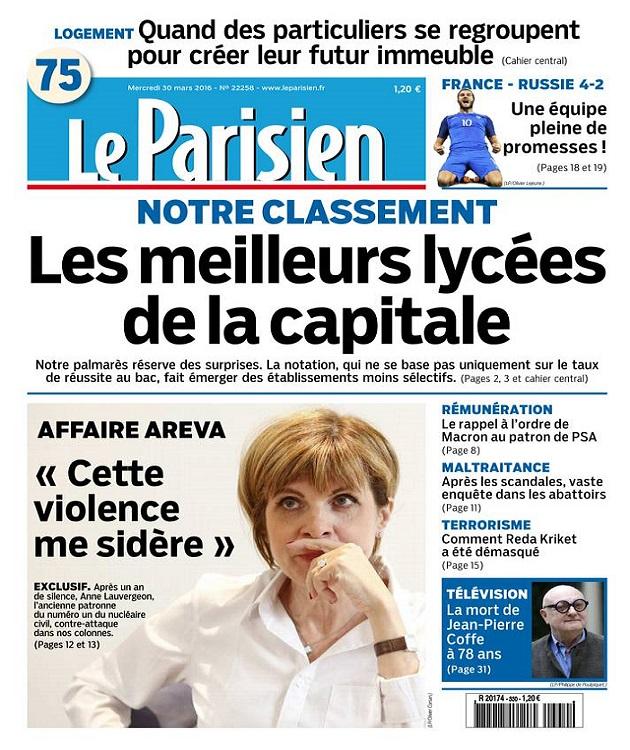 Le Parisien + Journal De Paris Du Mercredi 30 Mars 2016